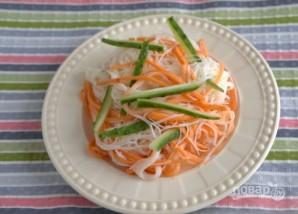 Фунчоза с овощами (классический рецепт) - фото шаг 6