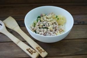 Рисовый салат с курицей - фото шаг 3
