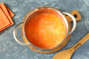 Молочный морковный суп