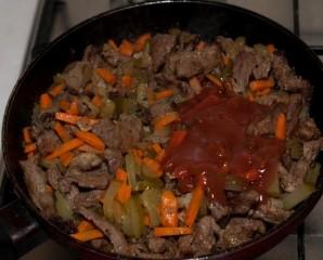 Азу из говядины с картофелем - фото шаг 10