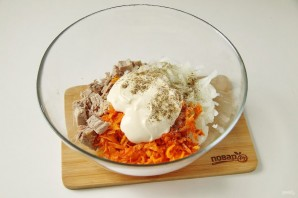 Салат из свинины и моркови - фото шаг 6