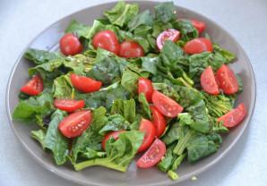 Салат со шпинатом и креветками - фото шаг 3
