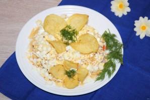Салат с чипсами и корейской морковкой - фото шаг 9