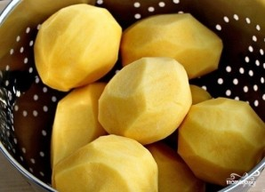 Минтай в духовке с картофелем - фото шаг 3