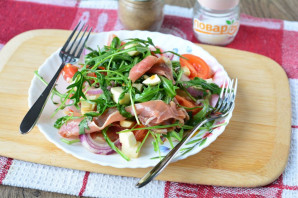 Салат с хамоном и рукколой - фото шаг 7