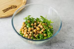 Салат с рукколой и нутом - фото шаг 3