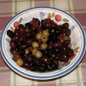 Салат с маслинами - фото шаг 1