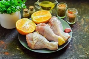 Куриные ножки с апельсинами в духовке - фото шаг 1