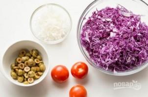Салат из фиолетовой капусты - фото шаг 1