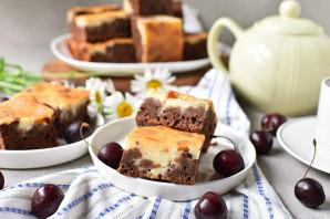 Шоколадный пирог с творогом - фото шаг 13