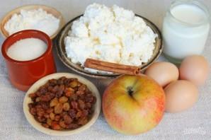 Творожная запеканка с изюмом, яблоками и корицей - фото шаг 1