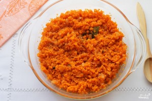 Икра из моркови и лука на зиму - фото шаг 4