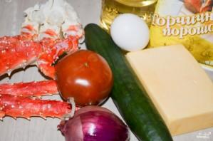 Салат из натурального крабового мяса - фото шаг 1