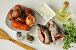 Сырный суп из горбуши - фото шаг 1