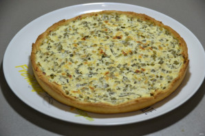 Пирог с зеленым луком и творогом - фото шаг 16