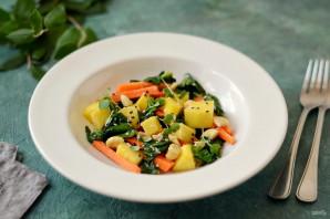Салат из шпината и манго - фото шаг 6