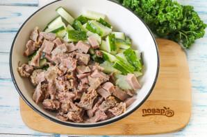 Салат из свиного языка с огурцом - фото шаг 3