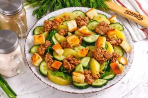 Салат с тунцом и сухариками - фото шаг 6