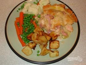 Пирог с курицей и ветчиной - фото шаг 9