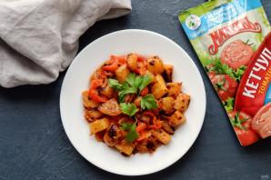 Кольраби жареная с кетчупом - фото шаг 7