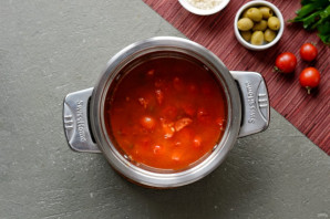 Рис с каперсами, оливками и кетчупом - фото шаг 5