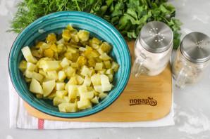 Салат с копченой курицей и картошкой - фото шаг 2