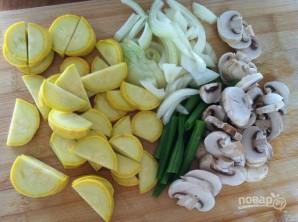 Соба с овощами и грибами - фото шаг 3