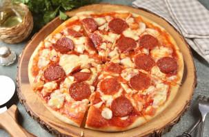 "Пицца ""Пепперони"" с моцареллой - фото шаг 9"