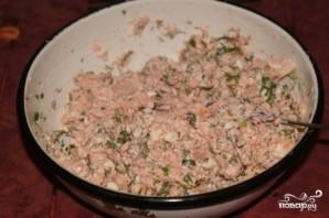 Рыбный пирог с творожным сыром - фото шаг 5