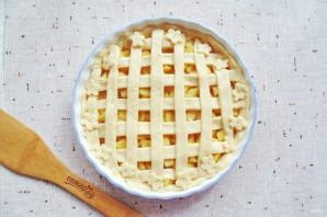 Яблочный пирог с решеткой - фото шаг 12