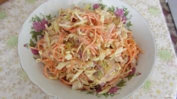 Салат с копчёной курицей и корейской морковью - фото шаг 3