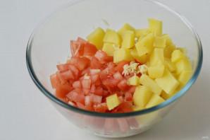Салат с капустой и нутом - фото шаг 4