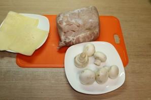 Стейки с грибами и сыром - фото шаг 1