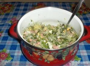 Овощная окрошка на кефире - фото шаг 4