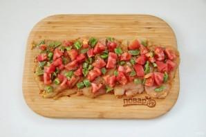 Куриный рулет с сыром и томатами - фото шаг 7