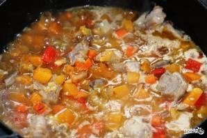 Овощи, тушенные с мясом - фото шаг 6