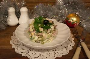 "Салат ""Новогодний"" с куриной грудкой - фото шаг 6"