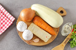 Паштет из кабачков с плавленым сыром - фото шаг 1