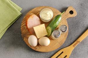 Салат с бужениной и огурцом - фото шаг 1