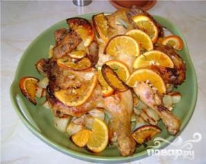Курица с розмарином, чесноком и апельсинами - фото шаг 6