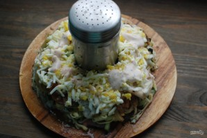 Салат с говядиной и маринованными огурцами - фото шаг 5