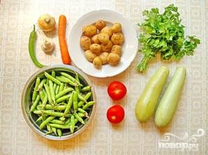 Рагу из молодых летних овощей с картофелем отварным - фото шаг 1