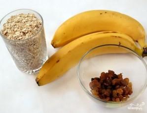 Банановое печенье с овсяными хлопьями - фото шаг 1