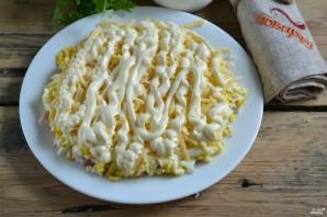 Салат с картофельной стружкой - фото шаг 6