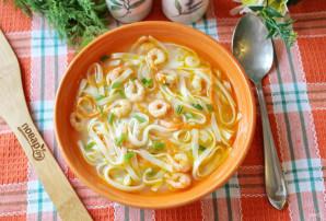 Суп с креветками и лапшой - фото шаг 10