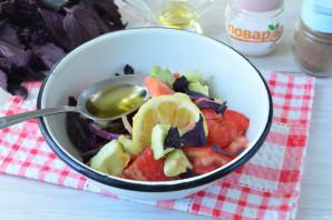 Салат с авокадо и базиликом - фото шаг 5