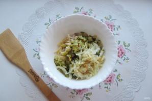 Салат с мясом и жареными шампиньонами - фото шаг 9