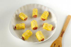 Охотничьи колбаски в тесте - фото шаг 5