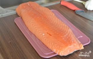 Шашлык из лосося - фото шаг 1