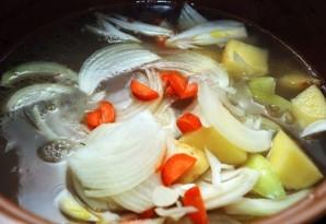 Суп из грибов лисичек   - фото шаг 5